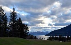 Lake Wakatipu from Kelvin Heights. In winter Stock Photography
