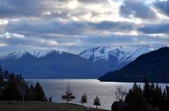 Lake Wakatipu from Kelvin Heights. In winter Royalty Free Stock Image