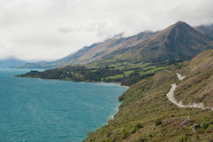 Lake Wakatipu landscape Stock Photography