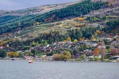 Lake Wakatipu near Queenstown, New Zealand stock photo