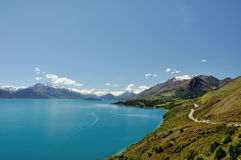 Lake Wakatipu - New Zealand. Summer lake, taken at near Glenorchy royalty free stock photos