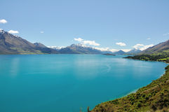 Lake Wakatipu - New Zealand. Summer lake, taken at near Glenorchy royalty free stock photography
