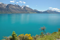 Lake Wakatipu - New Zealand. Summer lake, taken at near Glenorchy stock photo