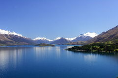 Lake Wakatipu New Zealand. Picture was taken by lake Wakatipu, New Zealand, in Nov 2007 Royalty Free Stock Photos