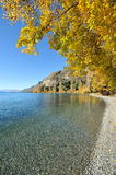 Lake Wakatipu in New Zealand Royalty Free Stock Images