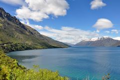Lake Wakatipu, New Zealand stock photography