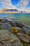 Lake Wakatipu Park Queenstown New Zealand stock photos