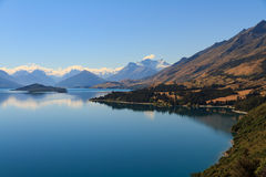 Lake Wakatipu. Queenstown, the longest lake of New Zealand Royalty Free Stock Photo