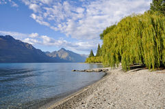 Lake Wakatipu, Queenstown, New Zealand Stock Image