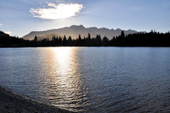 Lake Wakatipu, Queenstown, New Zealand Stock Photography