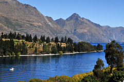 Lake Wakatipu, Queenstown, New Zealand Royalty Free Stock Photography