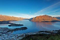 Lake Wakatipu in Queenstown New Zealand Stock Photography