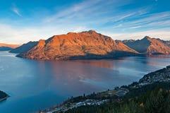 Lake Wakatipu in Queenstown New Zealand Stock Image