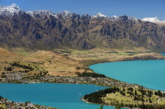 Lake Wakatipu, Queenstown, New Zealand Royalty Free Stock Photos