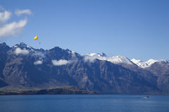 Lake Wakatipu in Queenstown, New Zealand Royalty Free Stock Photos