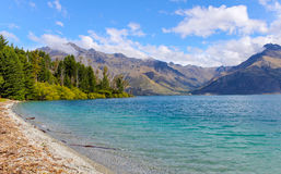 Lake Wakatipu Queenstown New Zealand. Quiet Place Stock Photography
