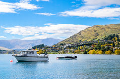 Lake Wakatipu in Queenstown, New Zealand. Lake Wakatipu which is located in Queenstown, New Zealand Royalty Free Stock Photography