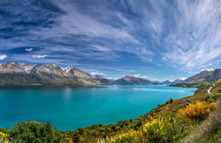 Lake Wakatipu between Queentown and Glenorchy Stock Images