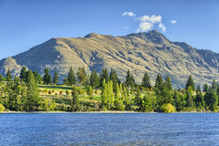 Lake Wakatipu and the Remarkables Stock Image