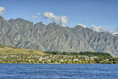 Lake Wakatipu and the Remarkables. From Remarkables Park, Queenstown, South Island, New Zealand Royalty Free Stock Photos