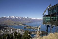 Lake Wakatipu from the Skyline Restaurant Royalty Free Stock Images