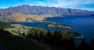 The lake Wakatipu Royalty Free Stock Photo