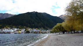 Lake Wakatipu which in Queenstown,New Zealand. stock video footage