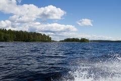Lake Wake Royalty Free Stock Photography