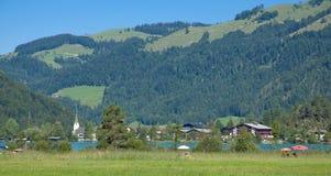 Lake Walchsee, Koessen, Tirol, Österrike Royaltyfri Foto