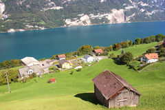 Lake Walensee in Swiss Alps Stock Photography