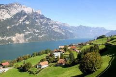Lake Walensee in the Swiss Alps, Switzerland Stock Photography