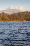 Lake in wales with view of Snowdonia National Park Stock Photography