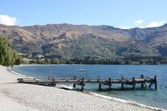 Lake Wanaka. Wanaka - beautiful mountain lake in Otago region of New Zealand Royalty Free Stock Photos