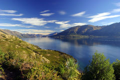 Lake Wanaka, New Zealand. Lake Wanaka landscape, New Zealand stock images