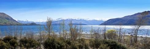 Lake Wanaka New Zealand. A panorama of Lake Wanaka New Zealand Stock Photo