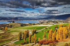 Lake Wanaka,  New Zealand. Lake Wanaka, view from mount Roys, South Island,  New Zealand Stock Image