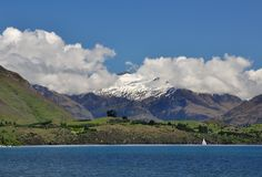 Lake Wanaka scenic in New Zealand Royalty Free Stock Photo