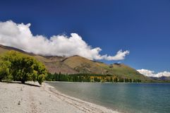 Lake Wanaka scenic in New Zealand Royalty Free Stock Images