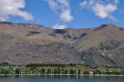 Lake Wanaka scenic in New Zealand Stock Image