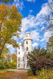 Lake Wannsee, Pfaueninsel, Berlin. Berlin, Germany - October 27, 2013: Castle at the island Schloss auf der Pfaueninsel in lake Wannsee. A nearby recreational royalty free stock photos