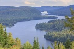 Lake Wapizagonke in La Mauricie National Park Royalty Free Stock Photography