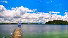 Lake Warden panoramic view. New Zealand.  Royalty Free Stock Image