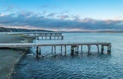 Lake Washington Piers Royalty Free Stock Photo