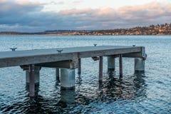 Lake Washington Piers 3 Royalty Free Stock Image