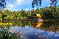 Lake in Wat Mai Khao temple. Phuket Thailand Royalty Free Stock Photography