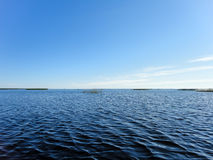 Lake water and blue sky view. Lake water and blue sky Royalty Free Stock Images