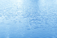 Lake water surface blue ripple. Lake water surface ripple blue background Royalty Free Stock Image