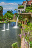 Lake with waterfall in the Monte Palace Tropical Garden. Funchal, Madeira, Portugal Stock Photography
