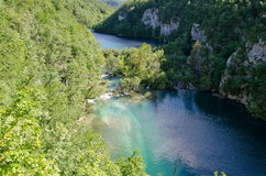 Lake and Waterfall. Plitvice Royalty Free Stock Image