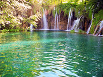 Lake and  waterfalls, Royalty Free Stock Images